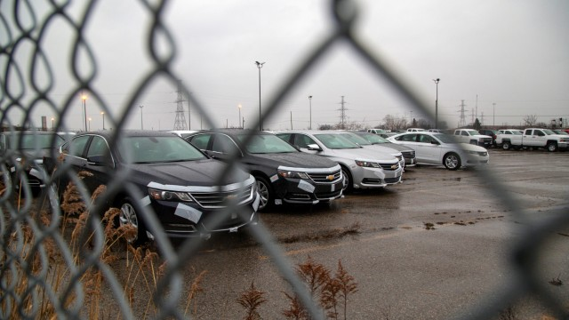 The General Motors assembly plant in Oshawa