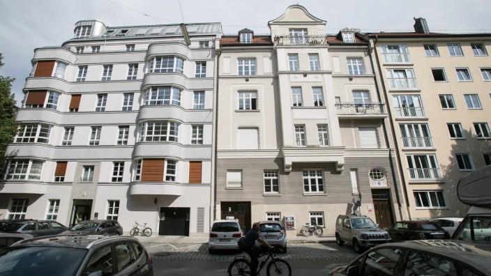 Häuser in der Isabellastraße in Münchner Stadtteil Schwabing