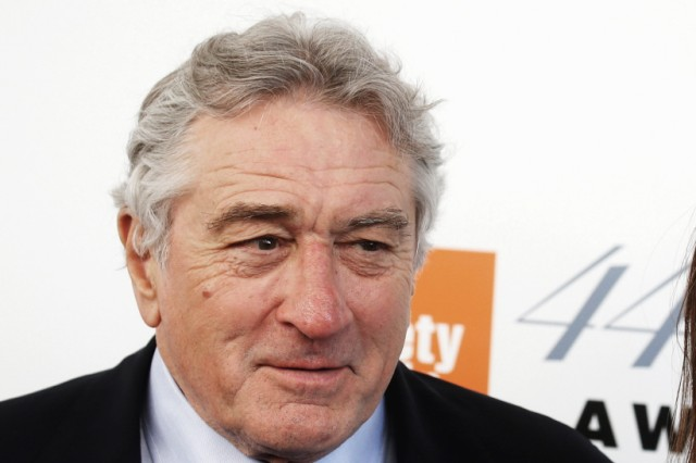 FILE PHOTO: Robert De NIro and wife Grace Hightower arrive for the Chaplin Awards at the Film Society of Lincoln Center in the Manhattan borough of New York