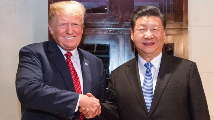 G20-Gipfel in Argentinien - Trump und Jinping