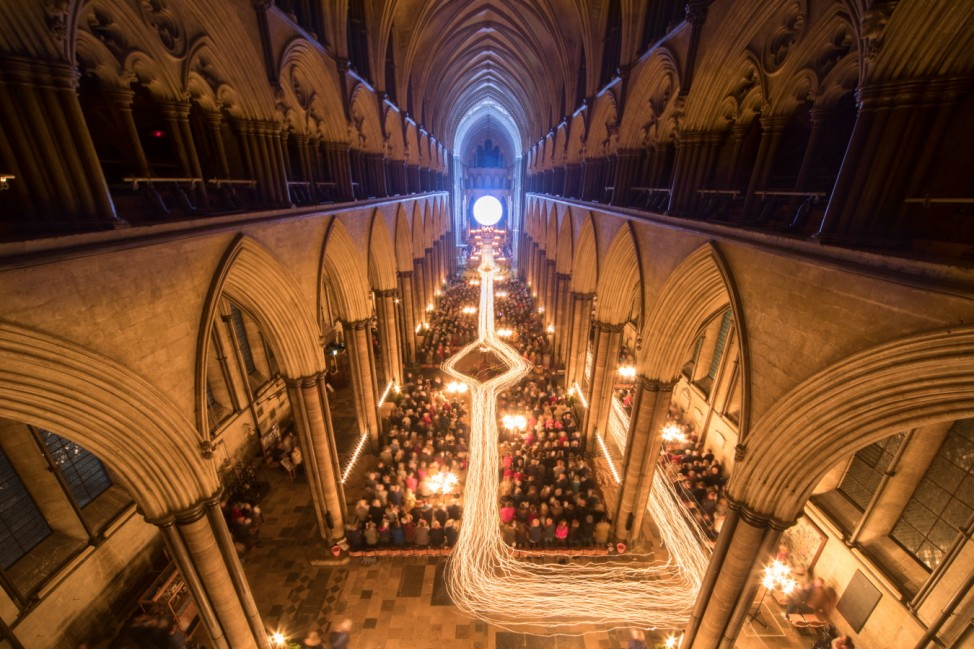 Salisbury Cathedral Hosts Annual Darkness To Light Advent Procession
