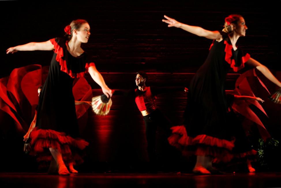 Jordanian ballet dancer Rabee Shrouf, performs during 'A Night in Vienna' in Amman