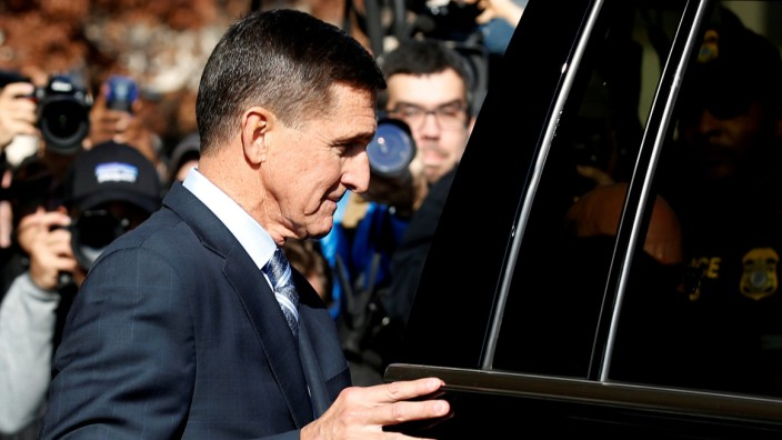 FILE PHOTO: Former U.S. National Security Adviser Michael Flynn departs after a plea hearing at U.S. District Court, in Washington