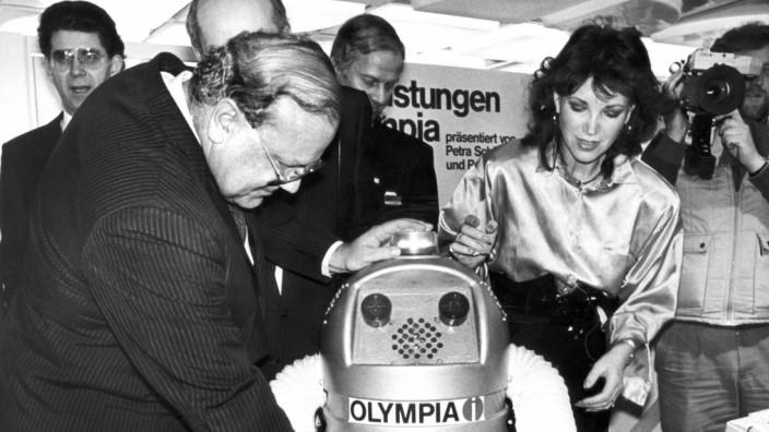 Erste Cebit 1986 - Sprechender Roboter
