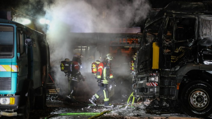 Feuer auf dem MD Gelände