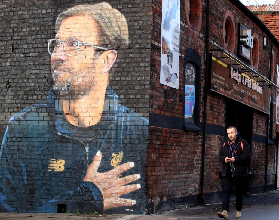 Jürgen-Klopp-Wandbild in Liverpool