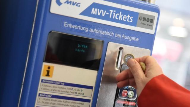 MVV-Tarifreform: Ein Ticketautomat der MVG