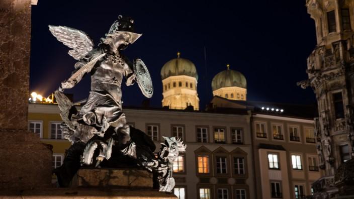 Marienplatz in München, 2018