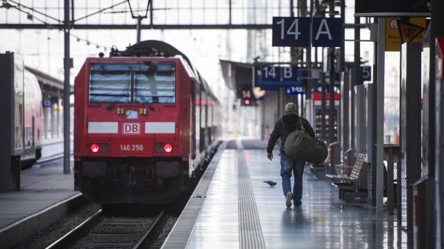 Deutsche Bahn Hit By EVG Union Strike