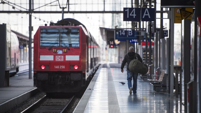 Deutsche Bahn Hit By EVG Union Strike