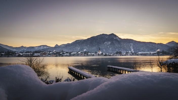 Tegernsee-Winter; Tegernsee im Schnee