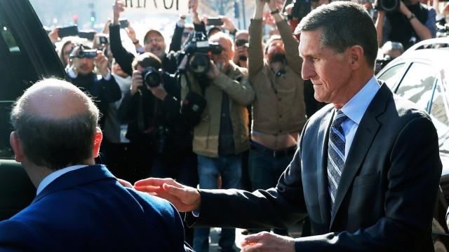 Former U.S. National Security Adviser Flynn departs after plea hearing at U.S. District Court in Washington