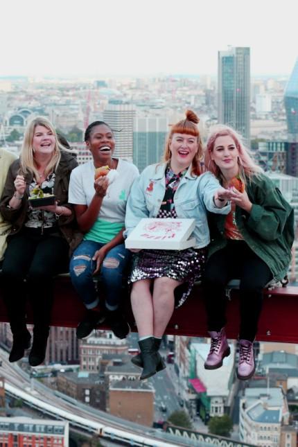 'Mittagessen auf einem Wolkenkratzer' in London