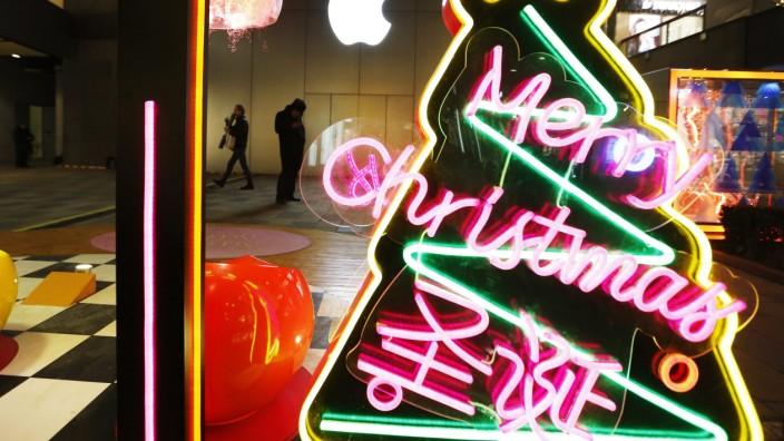 Christmas decorations in Beijing