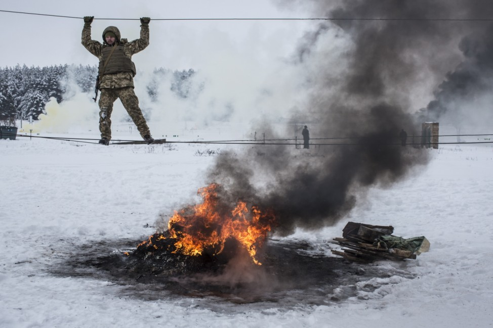 ***BESTPIX*** Ukraine Military Training Demonstration