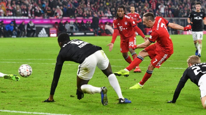 Fussball 1. Bundesliga/ FC Bayern Muenchen-RB Leipzig