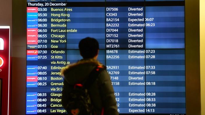 Großflughafen London-Gatwick lahmgelegt