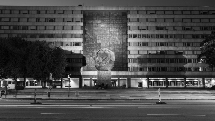 Karl Marx Monument in Chemnitz, 2017