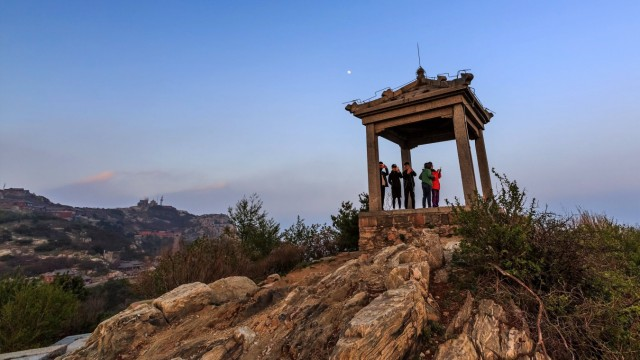 May 23 2018 Tai An Tai an China Tai an CHINA 23rd May 2018 Sunset scenery at Mount Tai in T