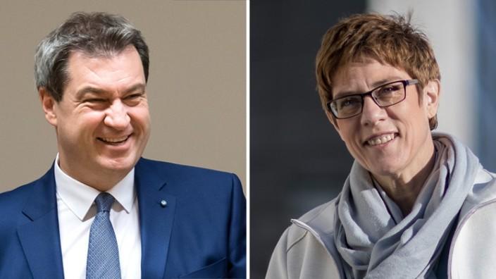 Union: Zwei, die es anders machen wollen als ihre Vorgänger: der designierte CSU-Chef Markus Söder und die CDU-Vorsitzende Annegret Kramp-Karrenbauer.