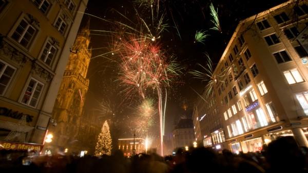 Silvesternacht am Marienplatz