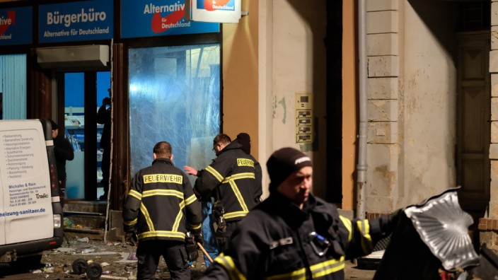 Explosion vor AfD-Büro in Döbeln