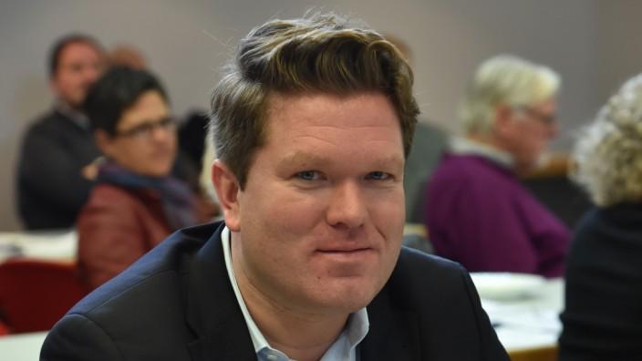 Florian Post auf Parteitag der SPD München, 2017