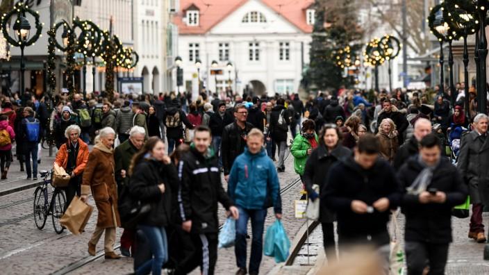 Weihnachtseinkäufe in Freiburg