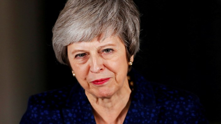 Großbritanniens Premierministerin Theresa May in London