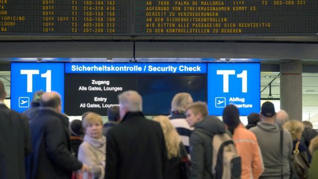 Streik Sicherheitspersonal Flughafen Stuttgart