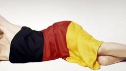 Claudia Schiffer deutsche Fahne Flaqge Tokio