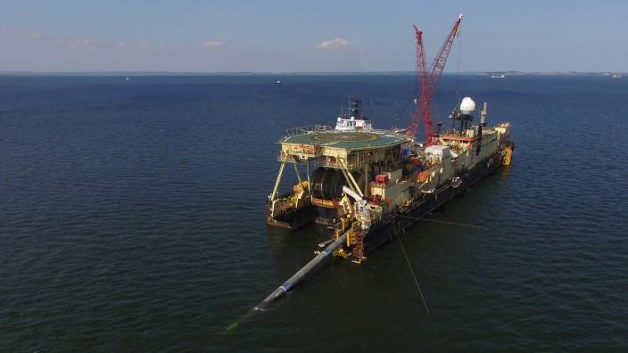 Nord Stream 2 Gas Pipeline Construction Continues