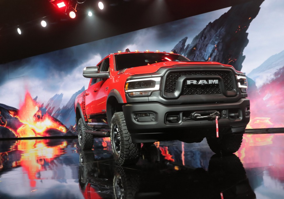 Ram Power Wagon pickup unveiled at the North American International Auto Show in Detroit, Michigan