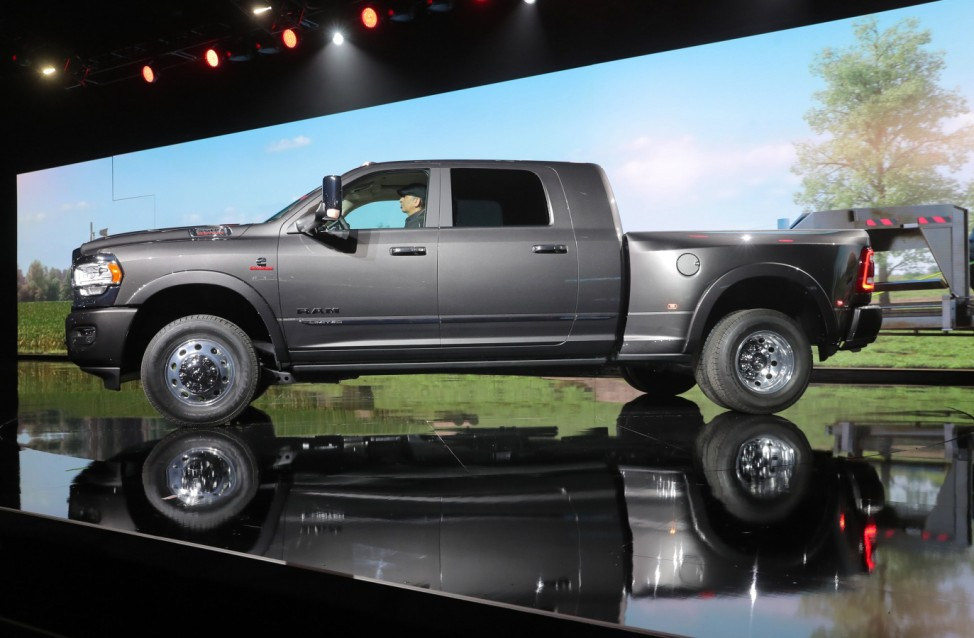 Ram 3500 pickup truck unveiled at the North American International Auto Show in Detroit, Michigan