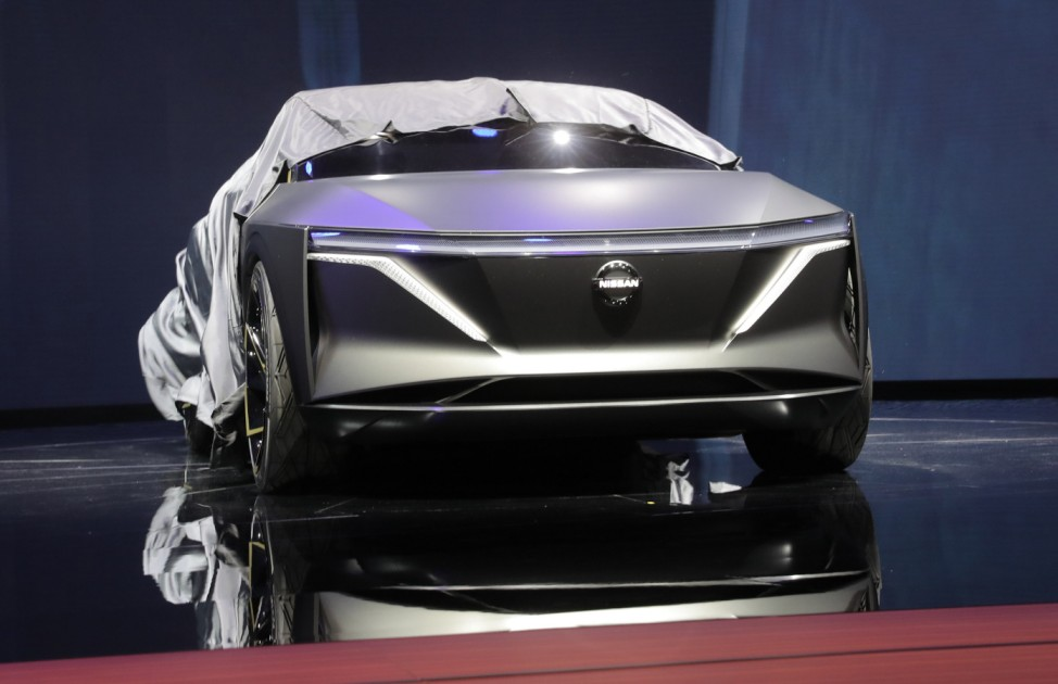 Nissan IMs concept vehicle is displayed at the North American International Auto Show in Detroit, Michigan