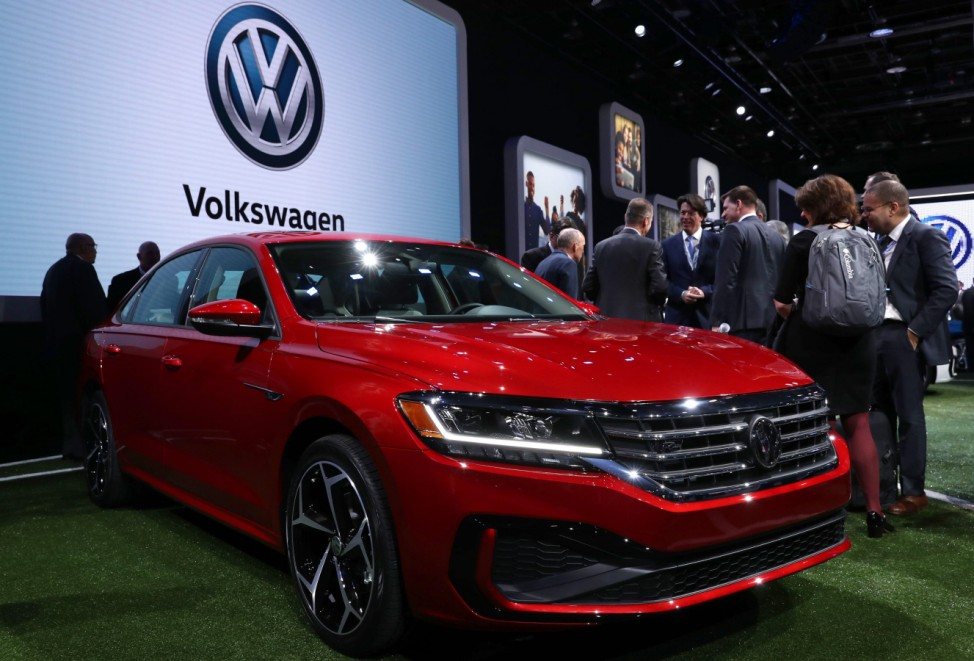 VW Passat revealed at the North American International Auto Show in Detroit, Michigan