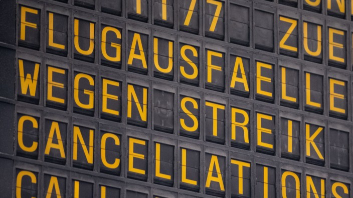 Warnstreik am Stuttgarter Flughafen