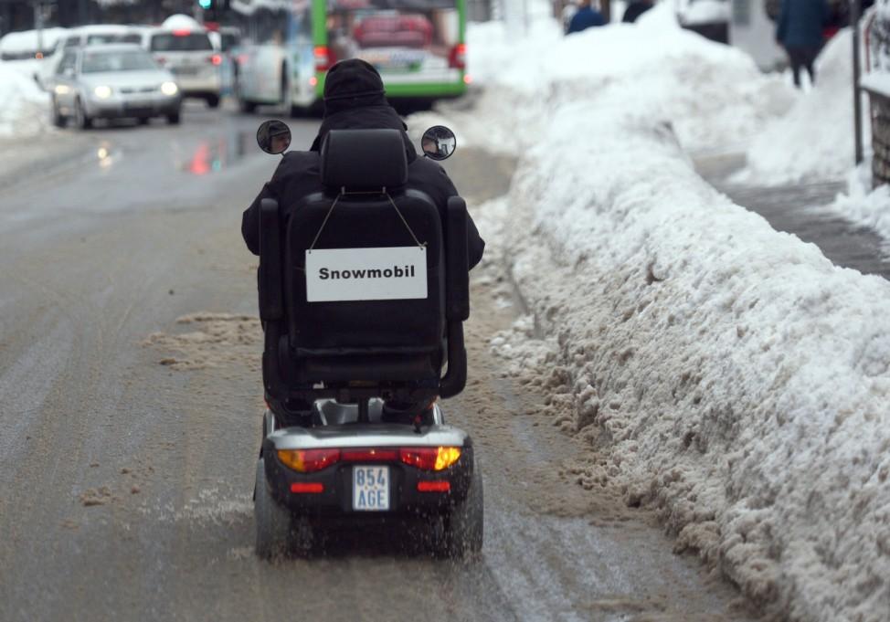 Schneemassen in Garmisch-Partenkirchen