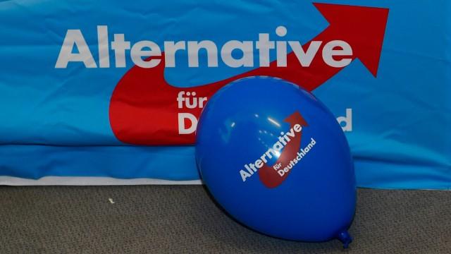 """AfD - Logo der """"Alternative für Deutschland"""" bei einer Wahlparty in Berlin"""