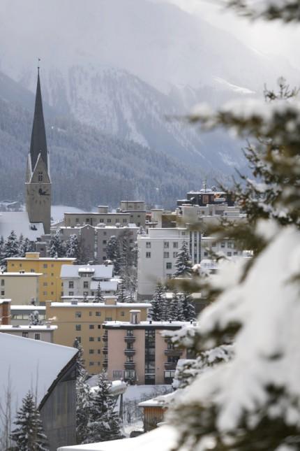 Weltwirtschaftsforum: Auch im Schweizer Wintersportort Davos in Graubünden liegt derzeit so viel Schnee wie schon lange nicht mehr. In der kommenden Woche findet hier das Weltwirtschaftsforum statt.