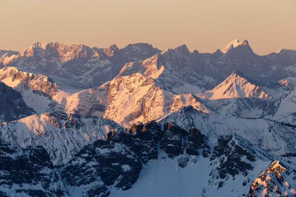 Alpenpanorama bei Sonnenaufgang