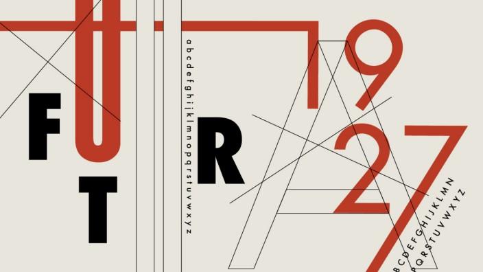 Varianten der Schriftart Futura