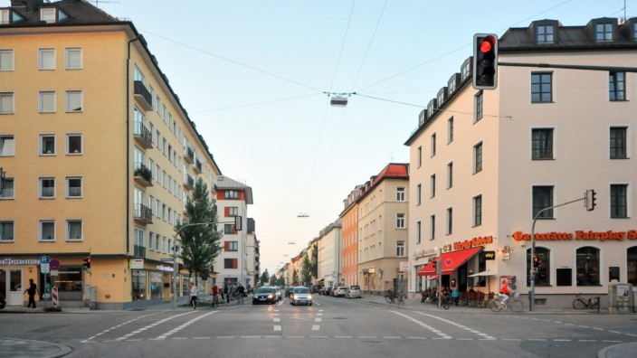 Schleißheimer Straße in München, 2018