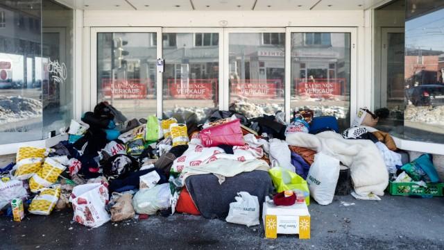 Obdachlosenlager in München, 2019