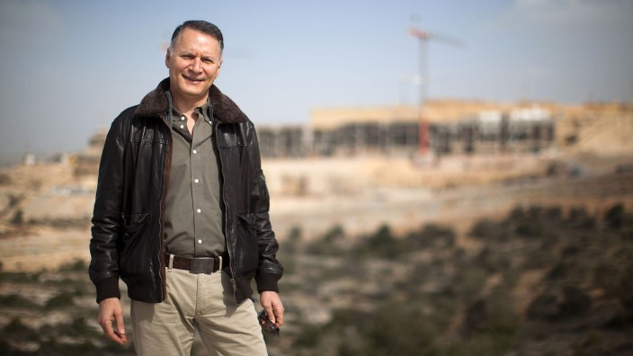 Palestinians Work On New City To Be Built In The West Bank