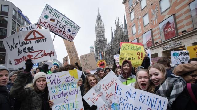 Schülerdemo Marienplatz Klimawandel