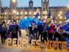 Brexit-Gegner vor dem Parlament in London