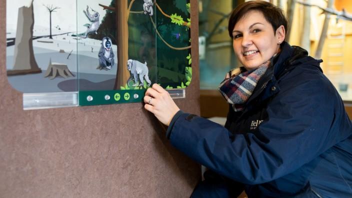 Julia Hoffmann vom Tierpark Hellabrunn im neuen Orang-Utang Gehege am 28.01.2019.