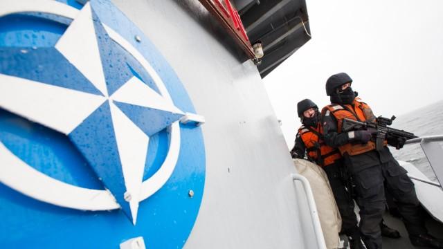 Nato-Schiff in der Ostsee