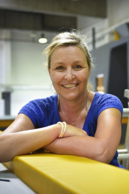 Trendsport: Da war die Welt noch in Ordnung: Sabine Schmalschläger vor der Eröffnung des Gravity Lab.